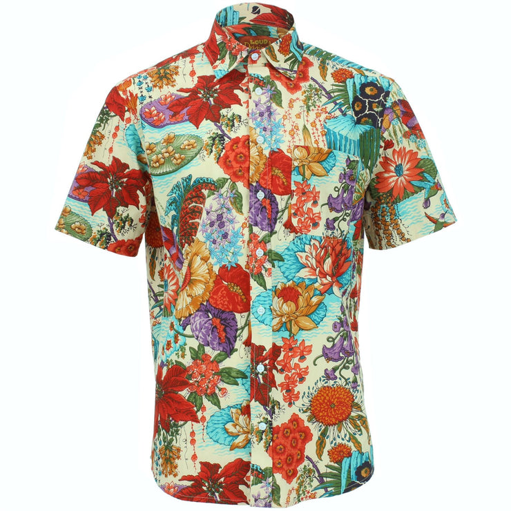 Regular Fit Short Sleeve Shirt - Japanese Floral