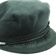 Embroidered Captain's Breton Cap - Black