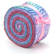 Cotton Batik Pre Cut Fabric Bundles - Jelly Roll  - Shades of Purple