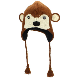 Wool Animal Hat - Monkey