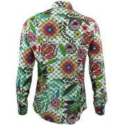 Tailored Fit Long Sleeve Shirt - Transparent Floral