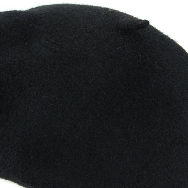 Wool Beret Hat - Black