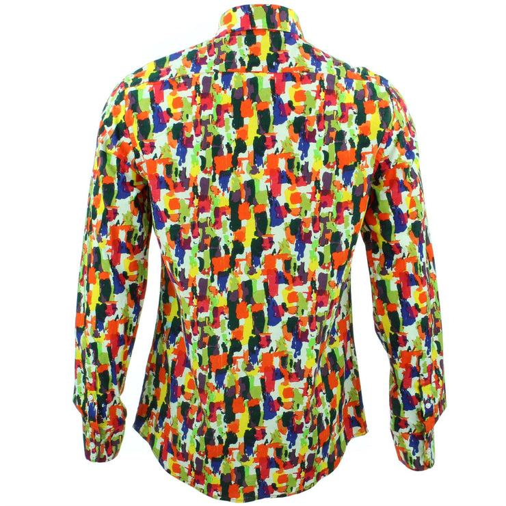 Tailored Fit Long Sleeve Shirt - Paintbrush Strokes
