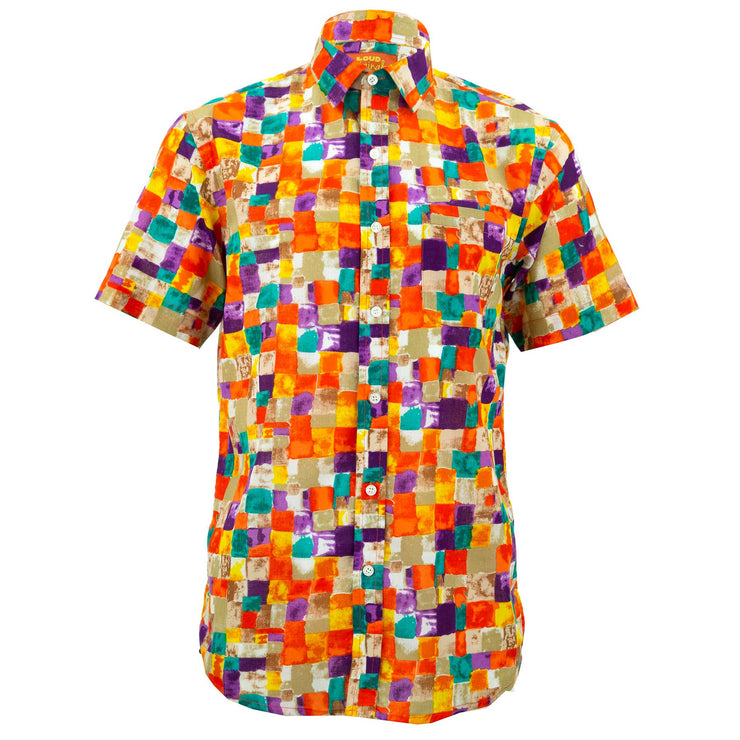 Regular Fit Short Sleeve Shirt - Paint