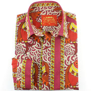 Slim Fit Long Sleeve Shirt - Fire Fish