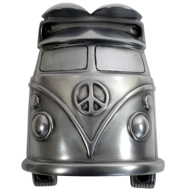 Wall Mounted Character Bottle Opener - Camper Van (Silver)