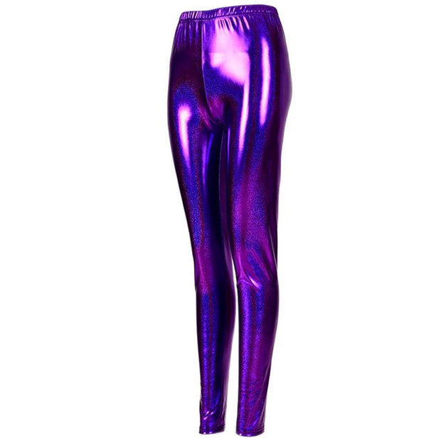 Shiny Leggings - Purple