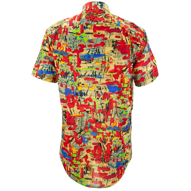 Regular Fit Short Sleeve Shirt - Splatter