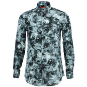 Tailored Fit Long Sleeve Shirt - Monochrome Floral