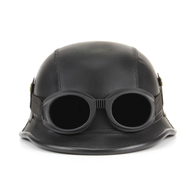 Combat Novelty Festival Helmet with Goggles - Black