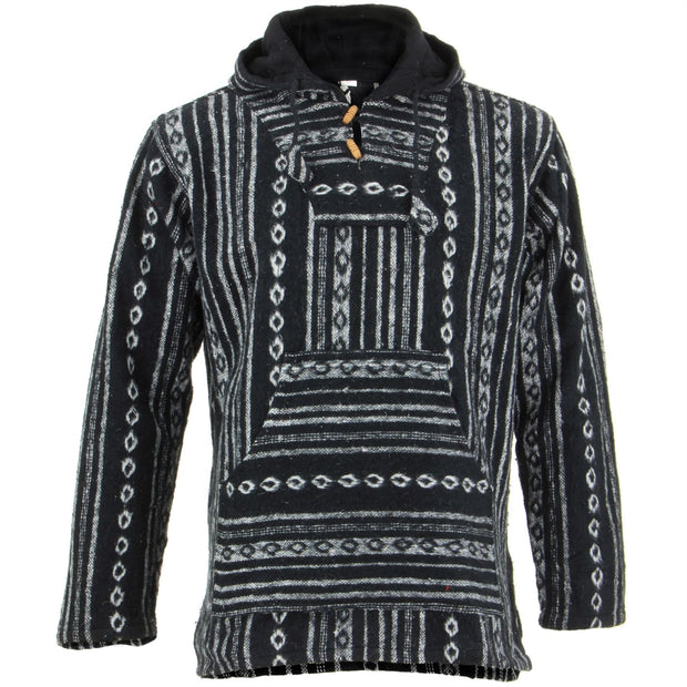 Brushed Cotton Baja Hoodie - Black Diamond