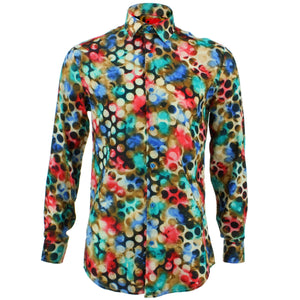 Tailored Fit Long Sleeve Shirt - Nebula Dots