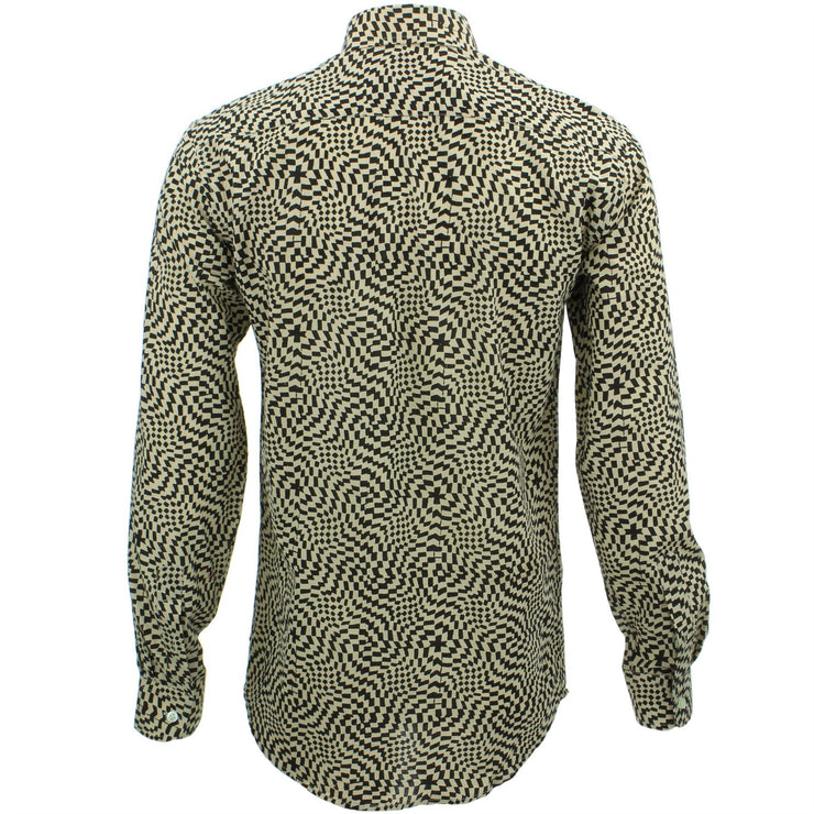 Tailored Fit Long Sleeve Shirt - Block Print - Psychedelic Shift