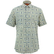 Tailored Fit Short Sleeve Shirt - Shell Fan