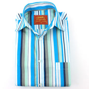 Slim Fit Long Sleeve Shirt - Bayadere Stripes