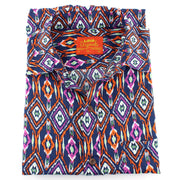 Tailored Fit Short Sleeve Shirt - Abstract Diamonds