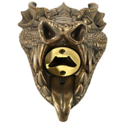 Wall Mounted Character Bottle Opener - Dragon (Bronze)