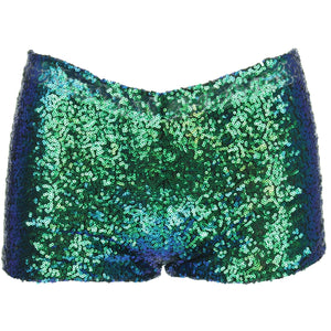 Sequin Hot Pants - Green
