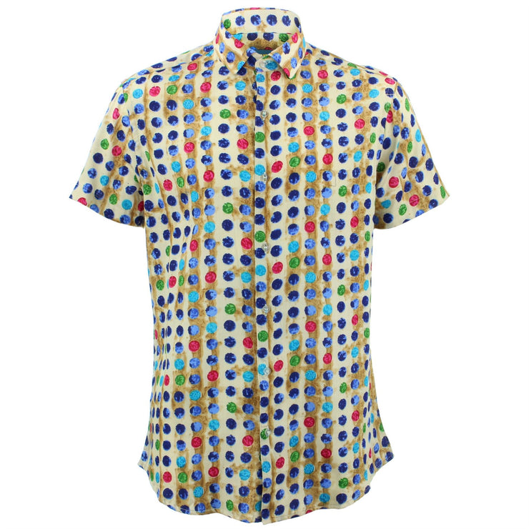 Slim Fit Short Sleeve Shirt - Multi Dotty