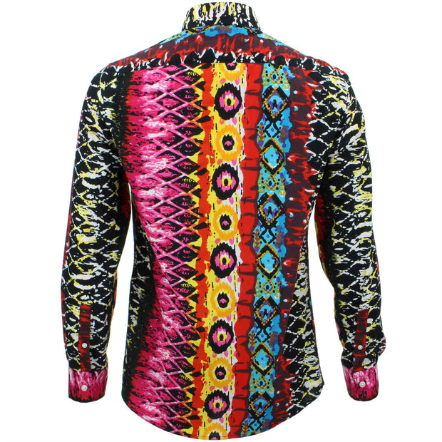 Tailored Fit Long Sleeve Shirt - Psychedelic Snakeskin