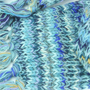 Chunky Wool Knit Scarf - Space Dye - Light Blue