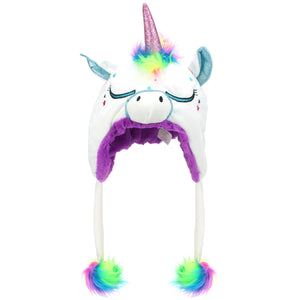 Childrens Character Hat - Unicorn - White