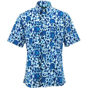 Regular Fit Short Sleeve Shirt - Floral Ikat