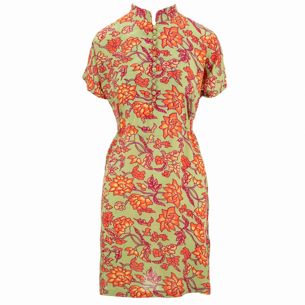Mandarin Mini Dress - Tangerine Garden