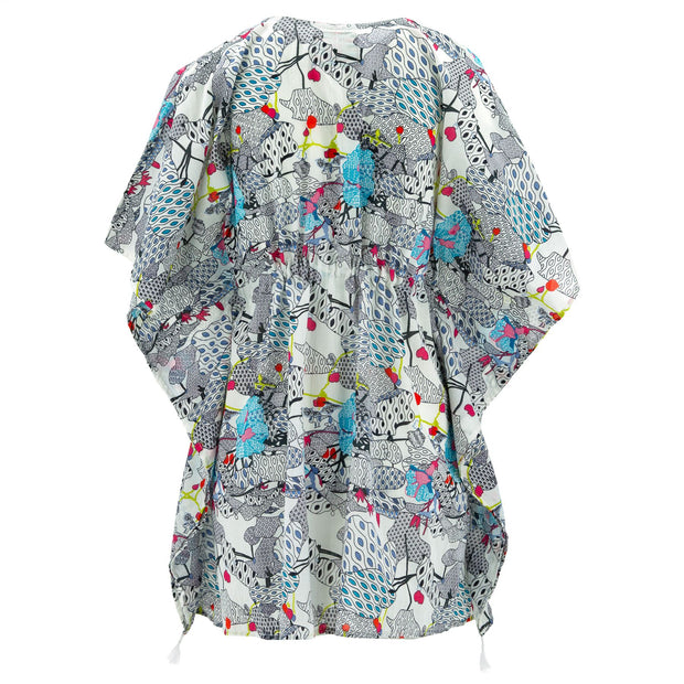 Beach Kaftan Cover-Up - Blue Utopia