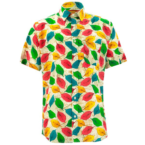 Regular Fit Short Sleeve Shirt - Leaves