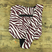 Cotton Canvas Sling Shoulder Bag - Zebra Red