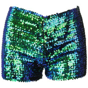 Sequin Shorts - Green