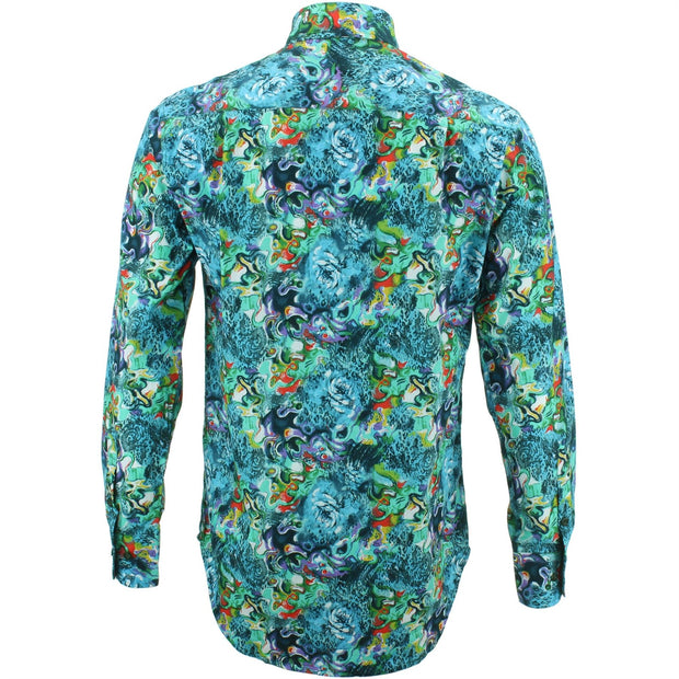 Regular Fit Long Sleeve Shirt - Watercolours