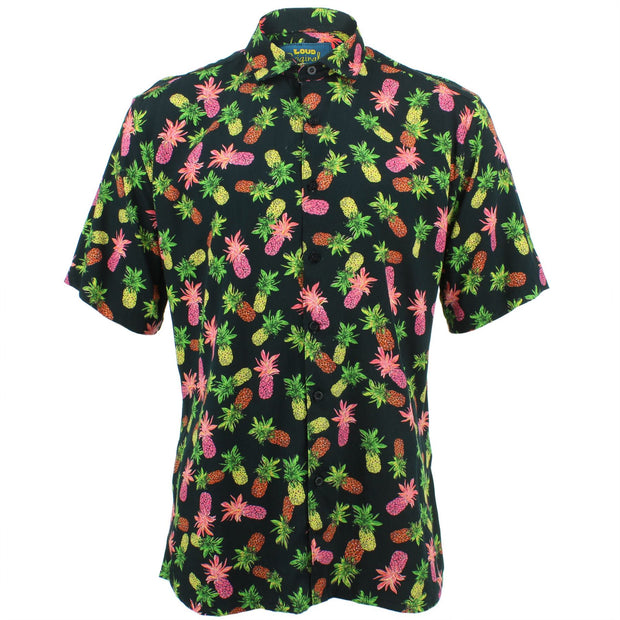Slim Fit Short Sleeve Shirt - Pineapples