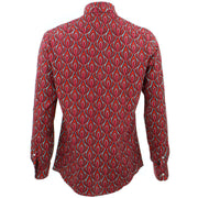 Tailored Fit Long Sleeve Shirt - Red Claw