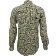 Slim Fit Long Sleeve Shirt - Block Print - Psychedelic Shift