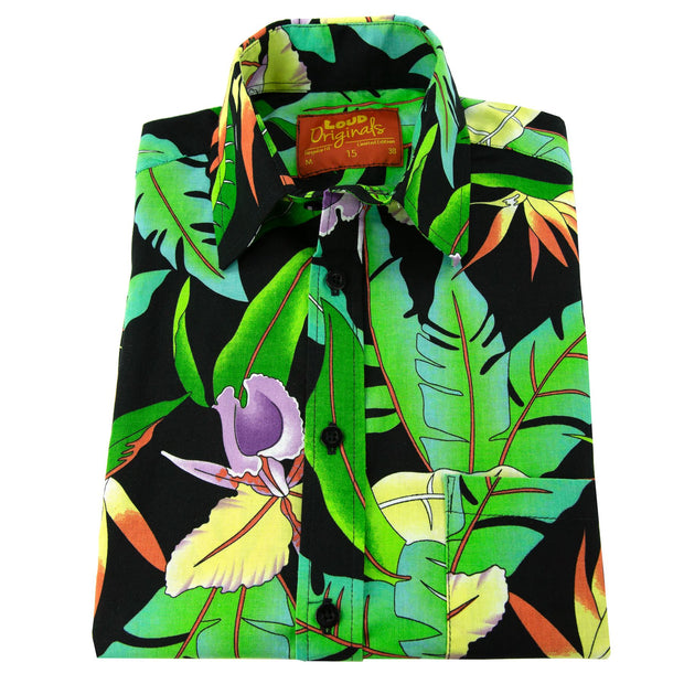 Regular Fit Short Sleeve Shirt - Jungle Palm