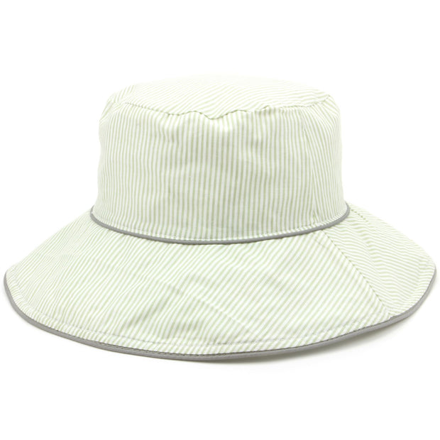 Reversible striped bucket sun hat - Green