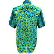 Regular Fit Short Sleeve Shirt - Peacock Mandala - Turquoise