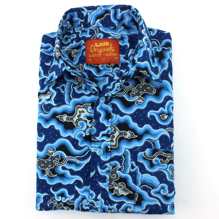 Slim Fit Long Sleeve Shirt - Sea Serpent