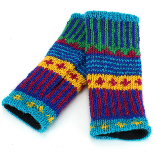Wool Knit Arm Warmer - Carnival