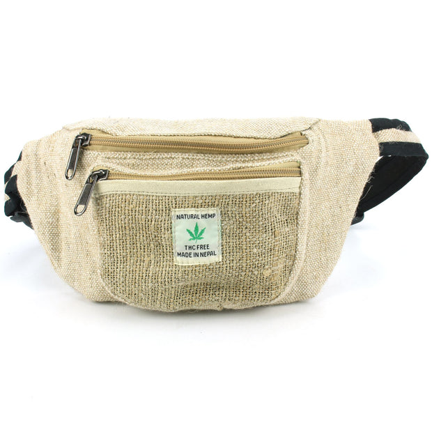 Handmade Natural Hemp Bag - Bumbag