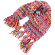Chunky Wool Knit Scarf - Space Dye - Pink