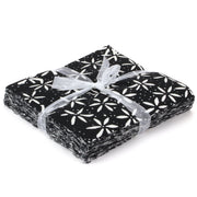 Cotton Batik Charm Pack Pre Cut Fabric Bundle - Black & White
