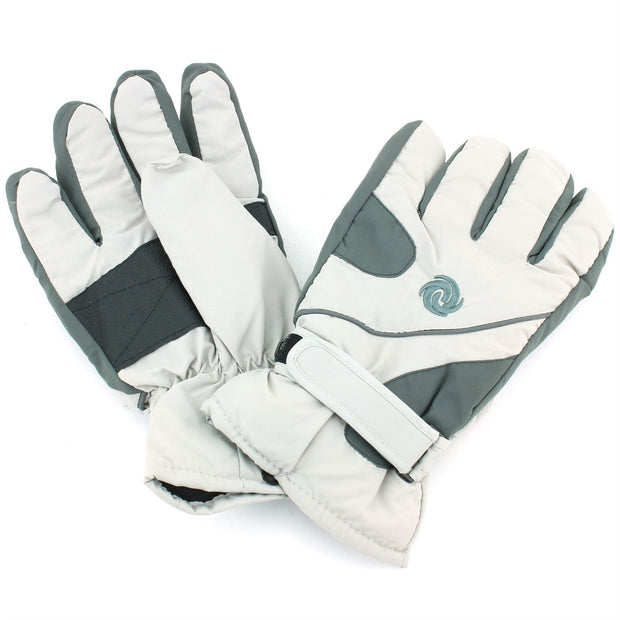 Mens Waterproof Thick Gloves - Greys