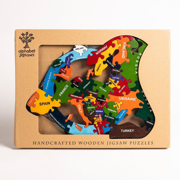 Handmade Wooden Jigsaw Puzzle - Map of Europe