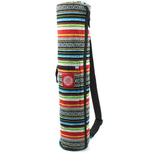 Cotton Canvas Yoga Mat Bag - Mexican Diamond