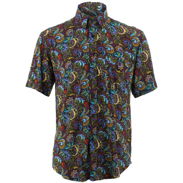 Regular Fit Short Sleeve Shirt - Floral Paisley
