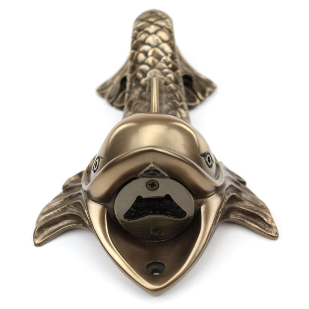 Wall Mounted Character Bottle Opener - Dolphin (Bronze)