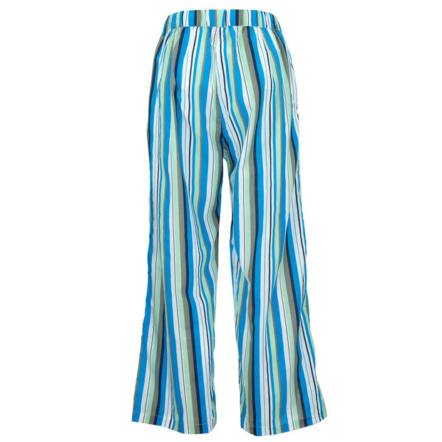 Loose Summer Trousers - Blue Grey Stripe